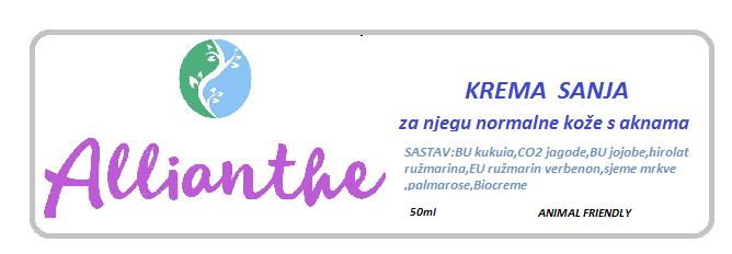 """NOVO U PONUDI!!! Krema """"Sanja"""""""
